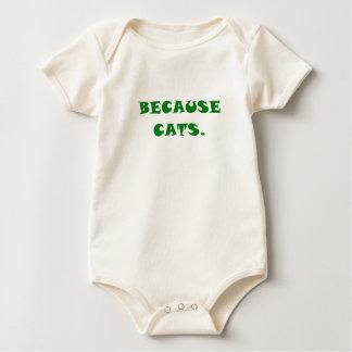 Porque gatos traje de bebé