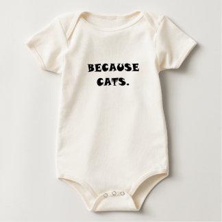 Porque gatos trajes de bebé