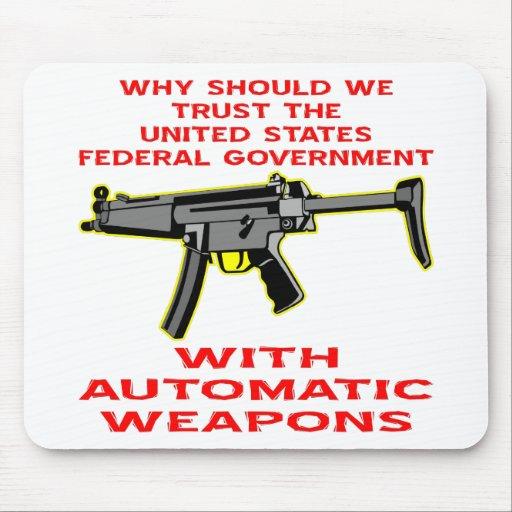 Porqué gobierno de FED de la confianza con el arma Mouse Pad