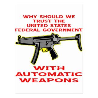 Porqué gobierno de FED de la confianza con el arma Postal