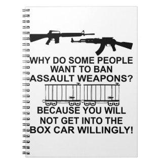 Porqué haga alguna gente quiere prohibir las armas spiral notebooks