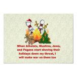 Porqué hay guerra en navidad invitación 12,7 x 17,8 cm