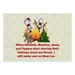 Porqué hay guerra en navidad plantilla de tarjeta personal