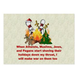 Porqué hay guerra en navidad tarjetas de visita grandes