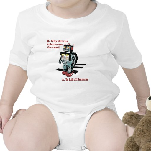 Porqué hizo la cruz del robot el camino traje de bebé