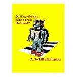 Porqué hizo la cruz del robot el camino postal