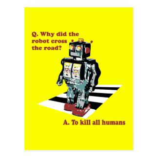 Porqué hizo la cruz del robot el camino tarjeta postal