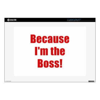 Porque Im Boss Calcomanía Para 38,1cm Portátil