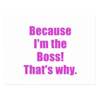 Porque Im Boss que es por qué Tarjetas Postales