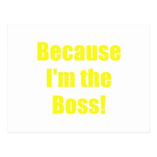 Porque Im Boss Postal