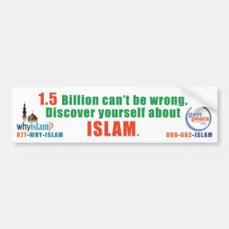 porqué-Islam-parachoque Pegatina Para Auto
