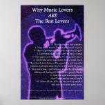 Porqué los amantes de la música son el mejor poste impresiones