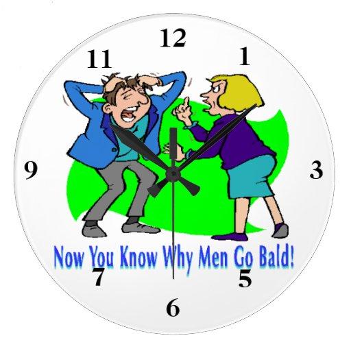 Porqué los hombres van calvos reloj redondo grande