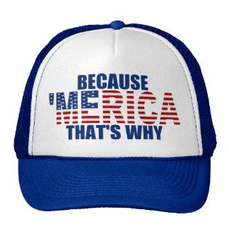 PORQUE 'MERICA QUE ES PORQUÉ el gorra del camioner