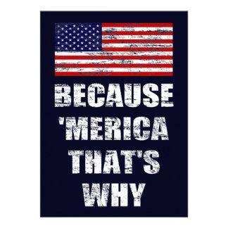 Porque MERICA que es porqué es patriótico vaya de
