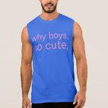 porqué muchachos camiseta sin mangas