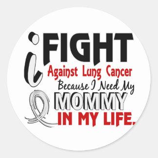Porque necesito mi cáncer de pulmón de la mamá etiqueta redonda