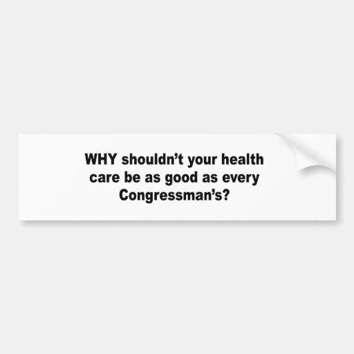 Porqué no debe su atención sanitaria ser tan buena pegatina de parachoque