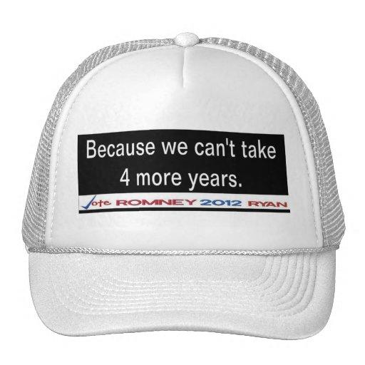 Porque no podemos tomar casquillo de 4 más años gorra