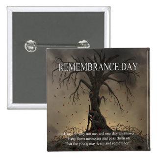 Porqué no yo botón del día de la conmemoración pin cuadrado
