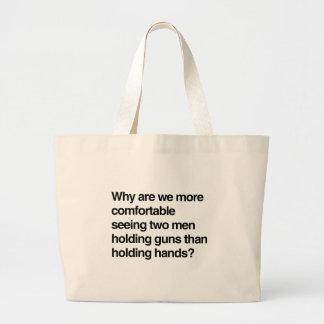 Porqué somos un asimiento más cómodo gu de dos hom bolsas lienzo