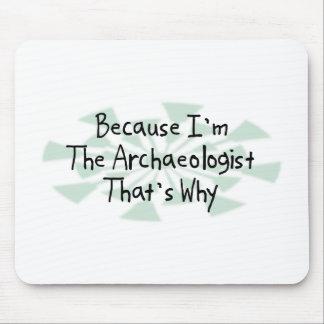 Porque soy el arqueólogo alfombrillas de ratón