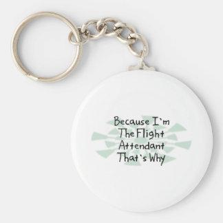 Porque soy el asistente de vuelo llavero redondo tipo pin