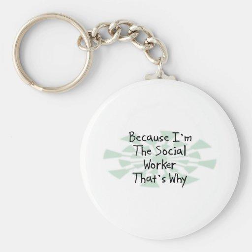 Porque soy el asistente social llaveros personalizados