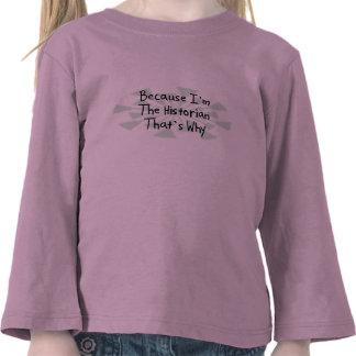 Porque soy el historiador camisetas
