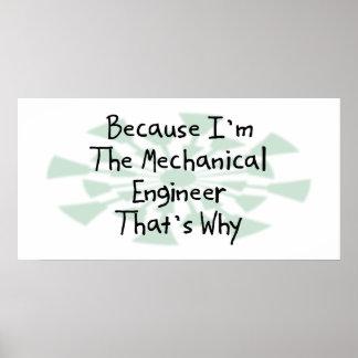 Porque soy el ingeniero industrial póster