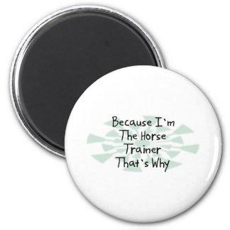 Porque soy el instructor de caballo imán redondo 5 cm
