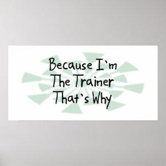 Porque soy el instructor póster