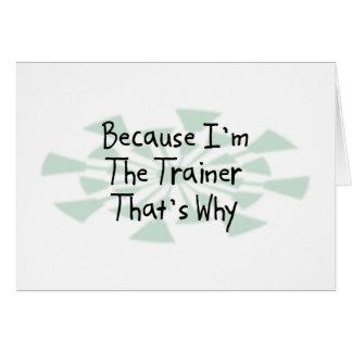 Porque soy el instructor tarjetón