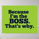 Porque soy el jefe, ése es por qué impresiones