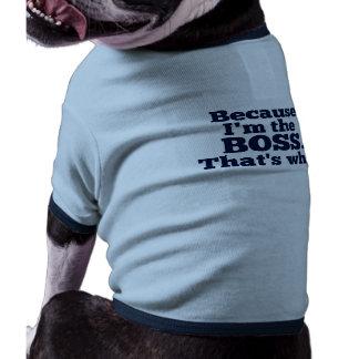 Porque soy el jefe, ése es por qué camisa de perrito