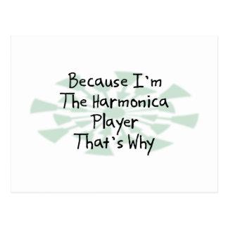 Porque soy el jugador de la armónica tarjeta postal