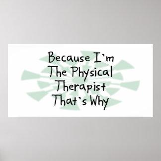 Porque soy el terapeuta físico posters