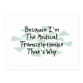 Porque soy el Transcriptionist médico Postal
