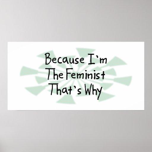 Porque soy la feminista póster