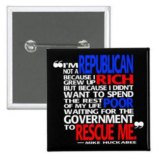 Porqué soy un republicano - botón pin cuadrado