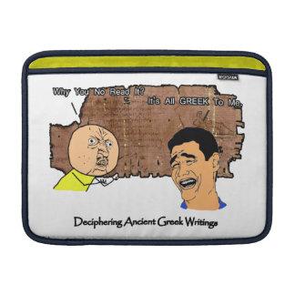 Porqué U ningún individuo y Griego de risa del ind Fundas MacBook