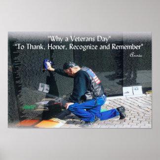 Porqué un día de veteranos póster