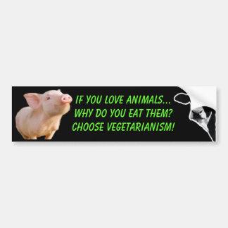 porqué usted come animales pegatina de parachoque