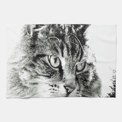 Porqué usted no me ama emoción del gato toalla de mano