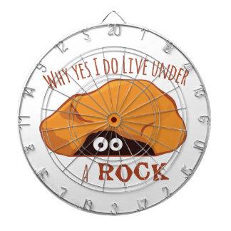 Porqué vivo sí debajo de una roca tablero dardos