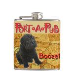 Port a Pub boozehound Hip Flask