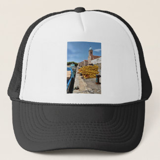 Port and church of Port-Vendres in France Trucker Hat