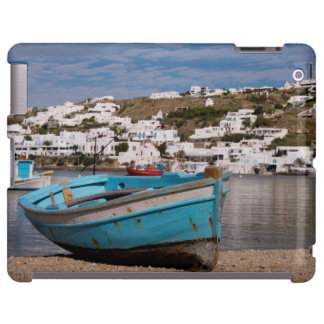 Port and harbor area with Greek fishing boats