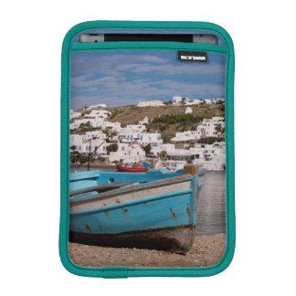 Port and harbor area with Greek fishing boats iPad Mini Sleeve