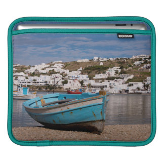 Port and harbor area with Greek fishing boats Sleeve For iPads